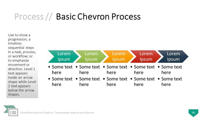 Graphics for chevron timeline graphics graphicsbuzz powerpoint smartart graphics basic chevron process template toneelgroepblik Images