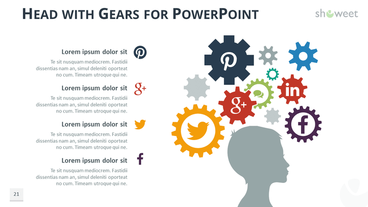 Gears Diagrams For Powerpoint