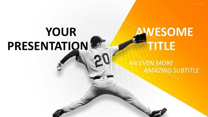 30 Sports Mega PowerPoint Template – Baseball Powerpoint Template