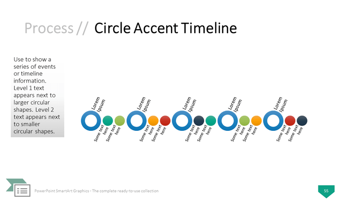 Point Smartart Graphics Circle Accent Timeline Template