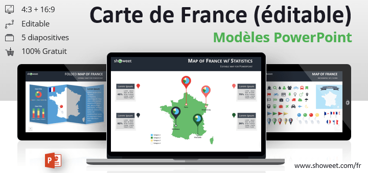 Modeles De Carte De France Pour Powerpoint