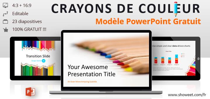 Crayons de Couleur – Modèle PowerPoint Gratuit