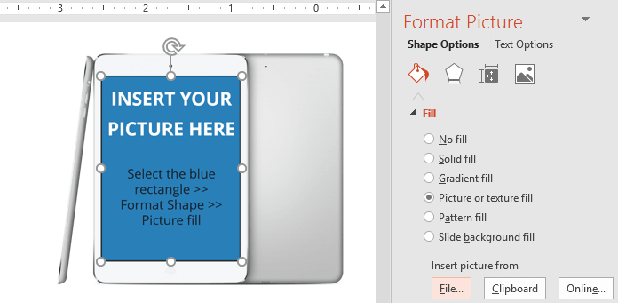 Mockup for PowerPoint - Select Background Image