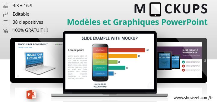 Modèles de Mockups (Maquettes) Gratuits pour PowerPoint