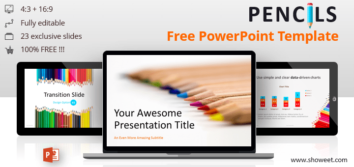 Pencils - Free PowerPoint Template
