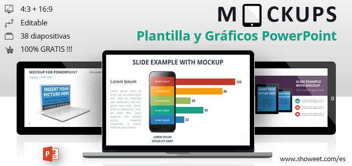 Mockups / Maquetas - Gráficos y plantillas gratis para PowerPoint