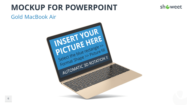 Mockups graphics and templates for powerpoint mockup templates for powerpoint gold macbook air toneelgroepblik Images