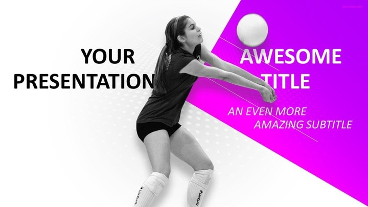 30 sports mega powerpoint template sports volleyball powerpoint template toneelgroepblik Gallery