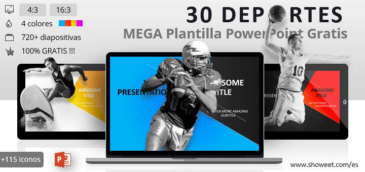 30 Deportes - Mega Plantilla para PowerPoint