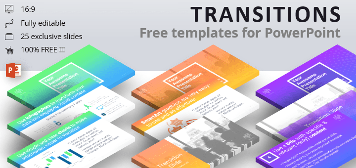 transitions modern powerpoint template