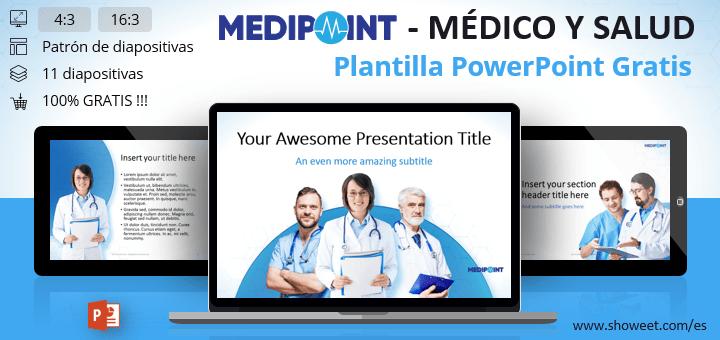 Medipoint - Plantilla PowerPoint gratuita en la temática médica y de salud