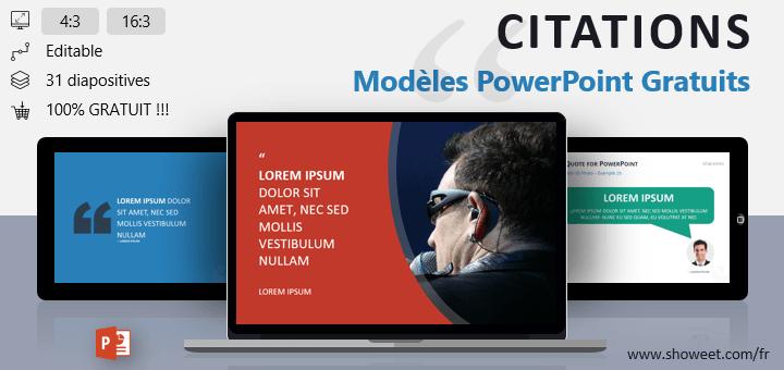 Modèles PowerPoint Gratuits pour Citations
