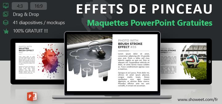 Modèles gratuits de maquettes PowerPoint avec Effets de Pinceau