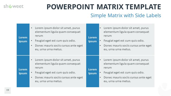 powerpoint matrix template