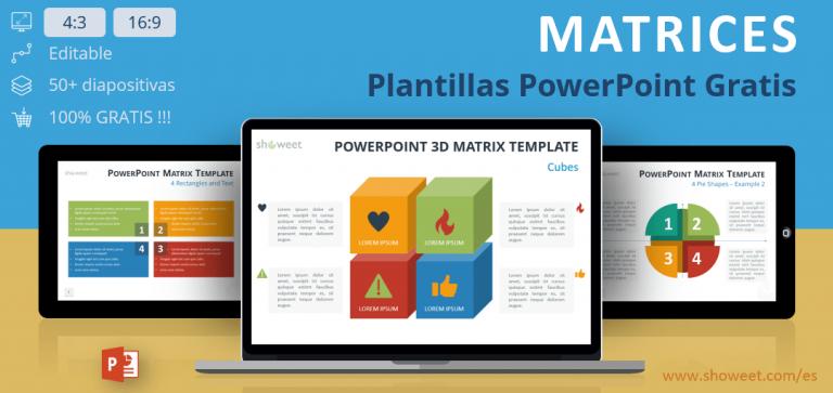 Plantillas editables y gratuitas de diagramas de matrices PowerPoint