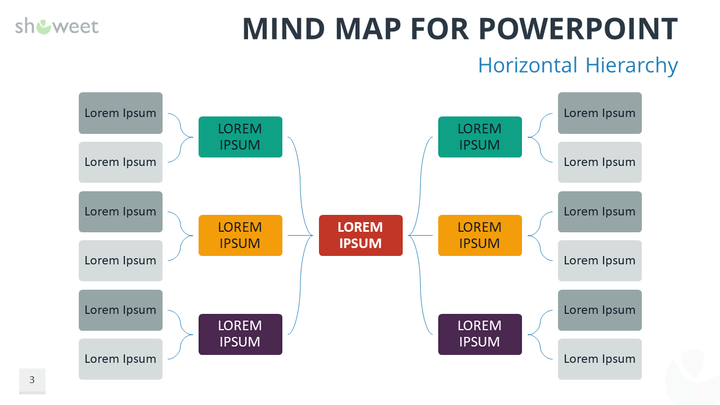 Mind map templates for powerpoint free mind map for powerpoint horizontal hierarchy toneelgroepblik Gallery