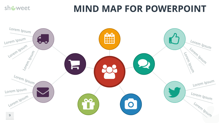 mind map templates for powerpoint, Modern powerpoint