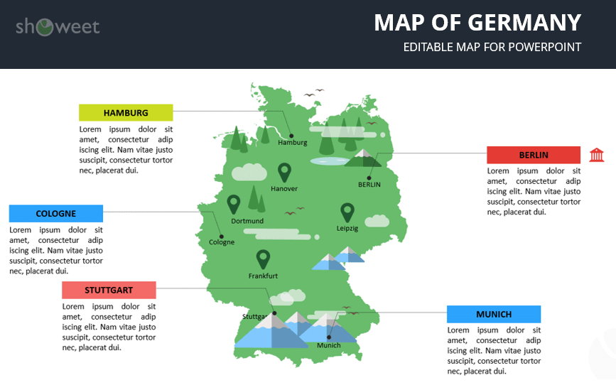 map of germany templates for powerpoint