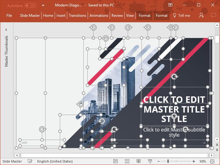 Diagonal - Fully Editable PowerPoint Template