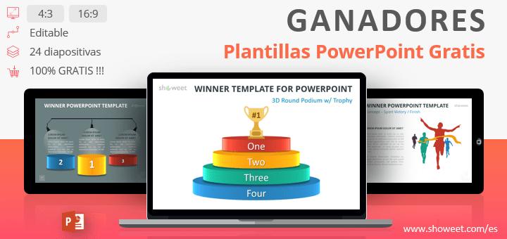 ganadores plantillas gratuitas para powerpoint