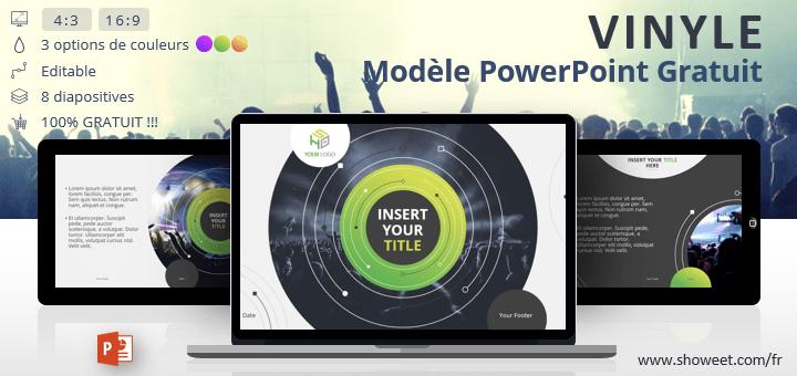 Vinyle - Modèle PowerPoint Créatif Gratuit