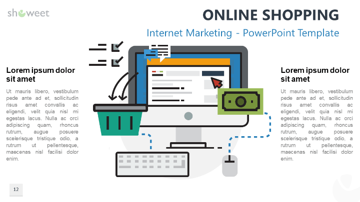 Internet marketing graphics for powerpoint free online shopping marketing for powerpoint toneelgroepblik Gallery