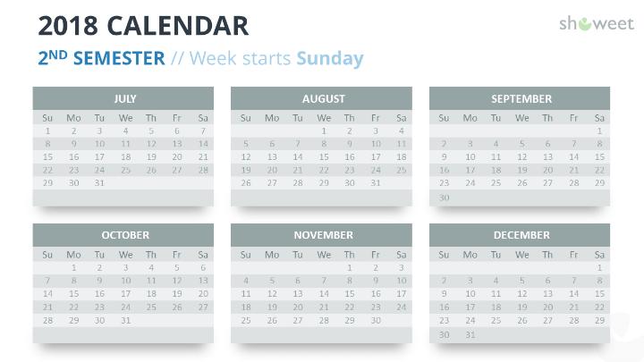 Calendar 2019 Template Powerpoint