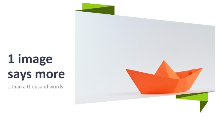 Origami creative powerpoint template origami powerpoint template image and title light background toneelgroepblik Gallery