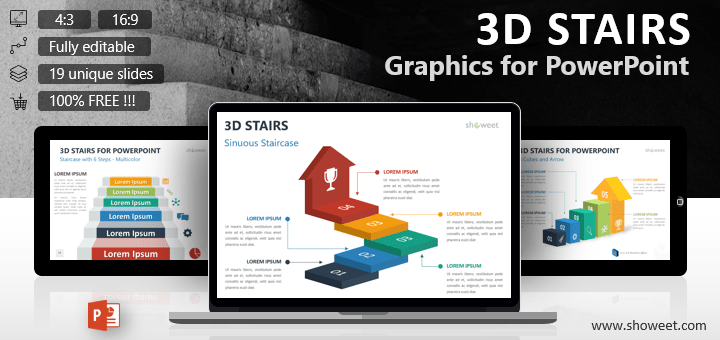 3d Stair Templates For Powerpoint