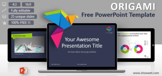 Creative and free powerpoint templates showeet origami creative powerpoint template toneelgroepblik Choice Image