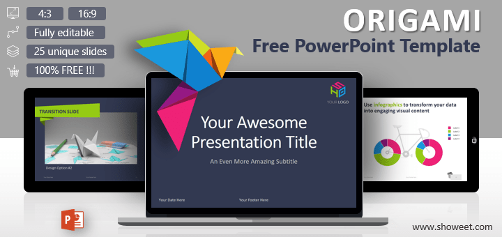 Origami creative powerpoint template origami free creative and colorful powerpoint template toneelgroepblik Image collections