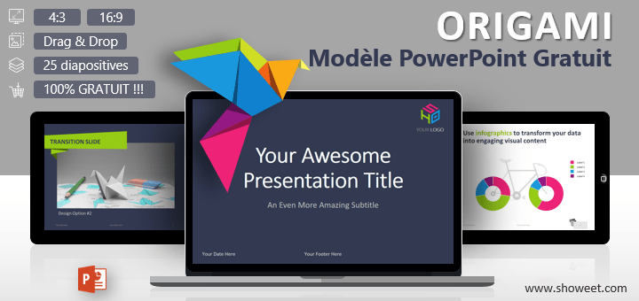 Favorit Modèles PowerPoint Gratuits et Créatifs - Showeet MI69