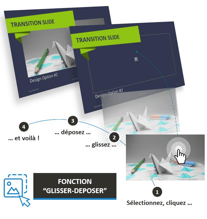 Origami – Modèle PowerPoint créatif optimisé avec la fonction Glisser - Déposer