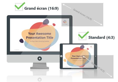 Bubbler – Modèle PowerPoint aux formats Grand écran et Standard
