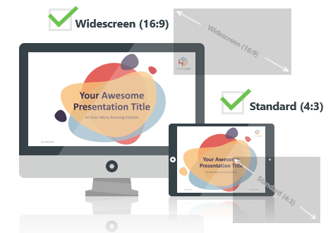 Bubbler PowerPoint Template optimized for both Widescreen and Standard Layouts