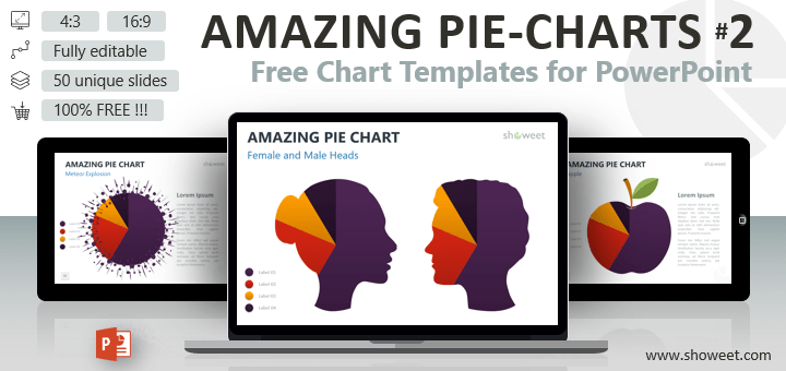 Creative and free powerpoint templates showeet amazing pie charts 2 for powerpoint toneelgroepblik Image collections
