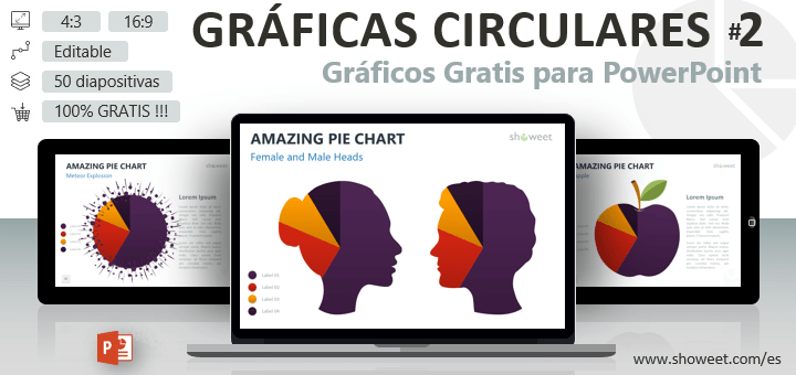 Gráficas Circulares Originales para PowerPoint