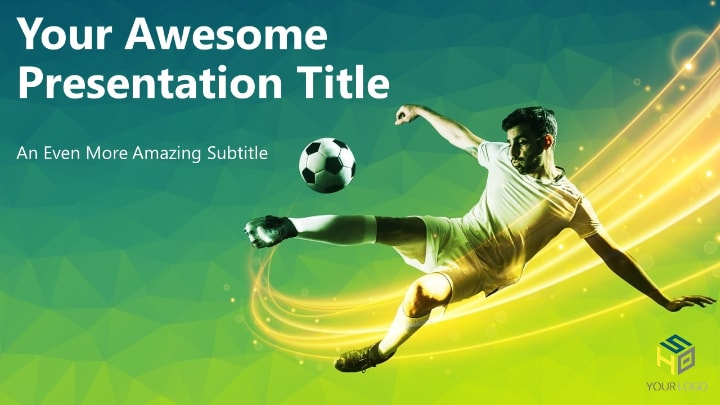 Soccer Modern Powerpoint Template Green Version
