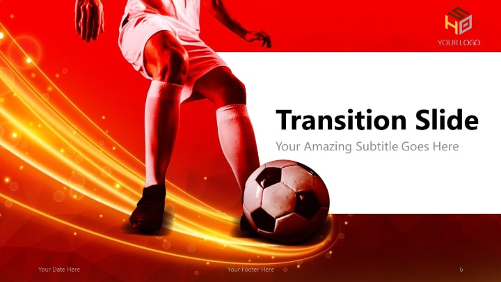 Soccer Modern Powerpoint Template Red Version