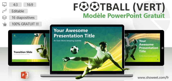Football - Modèle PowerPoint Gratuit Moderne (version Verte)