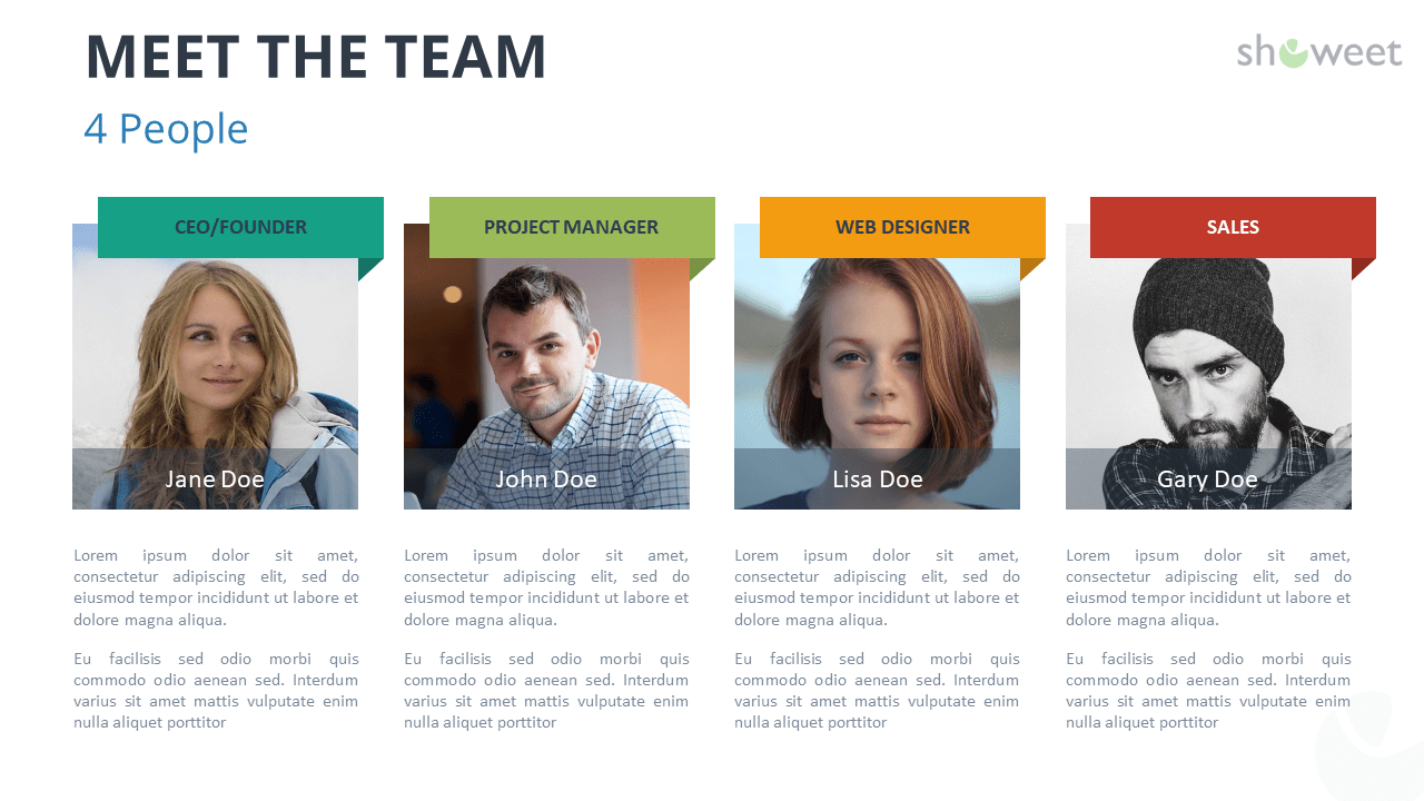 Meet The Team Templates for PowerPoint