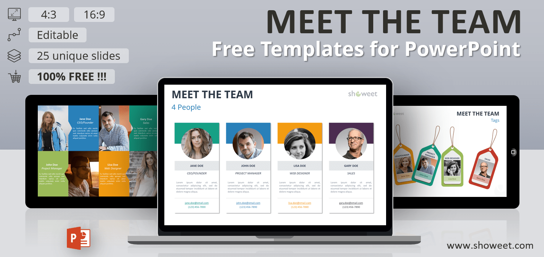 Meet the Team - Free PowerPoint Templates