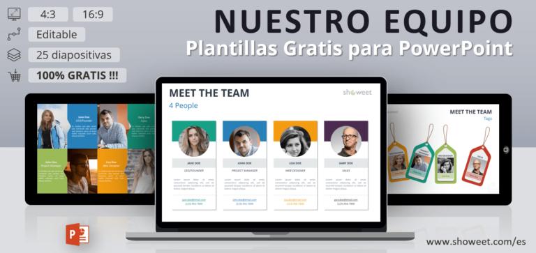 Nuestro Equipo - Plantillas par PowerPoint