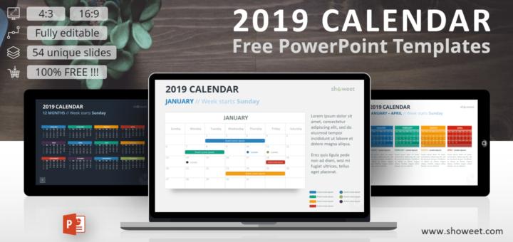 Powerpoint Calendar Template 2019 2019 Calendar PowerPoint Templates