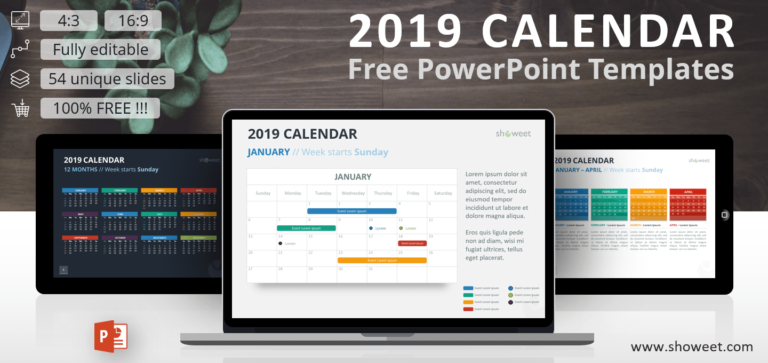 Free 2019 Calendar PowerPoint Templates