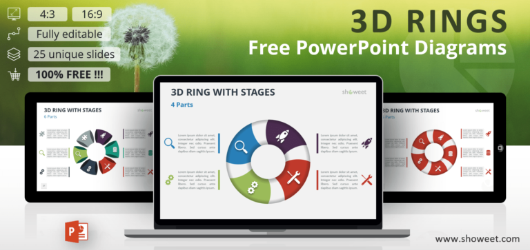 Free 3D Ring PowerPoint Diagrams