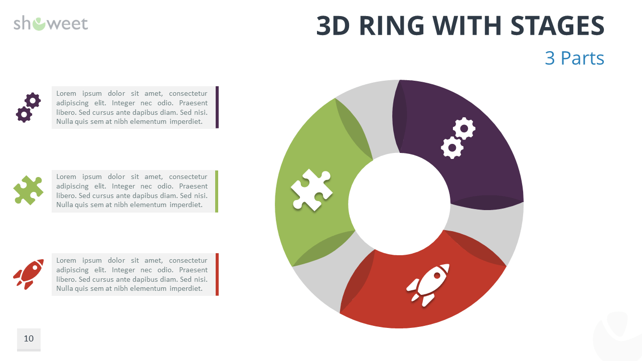 3d Ring Diagrams For Powerpoint Business Star Diagram 2 Stages Templates Ppt Backgrounds Slides With 3 Option
