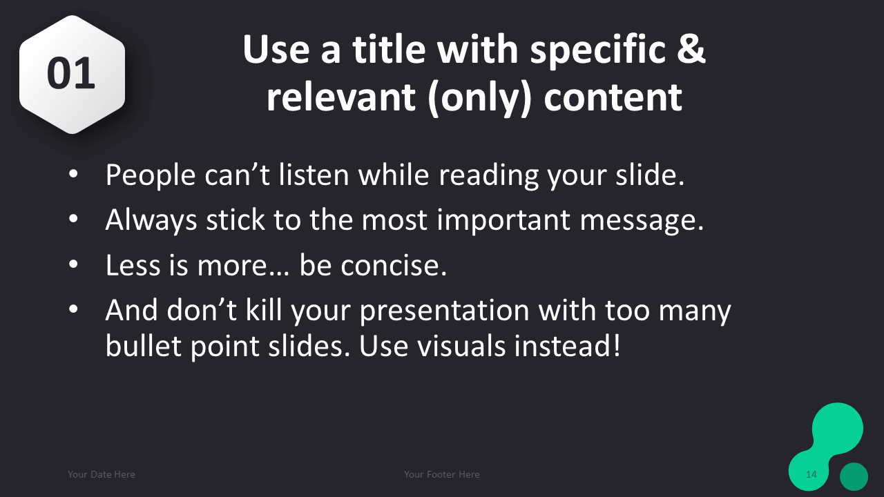 Dark Pro Point Template Le And Content Slide