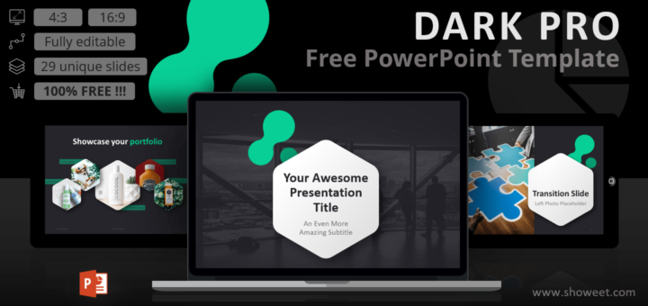 Dark Pro Modern Powerpoint Template