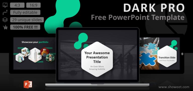 Dark Pro - Free Modern PowerPoint Template